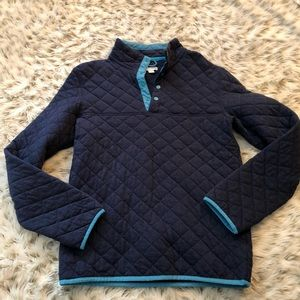 Merona Blue Quilted t snap pullover